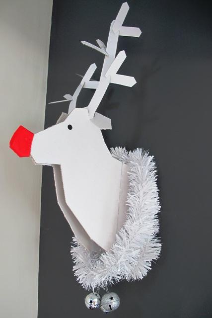 Decoraci n de navidad para hacer t mismo reno de cart n - Adornos navidenos para hacer en casa ...