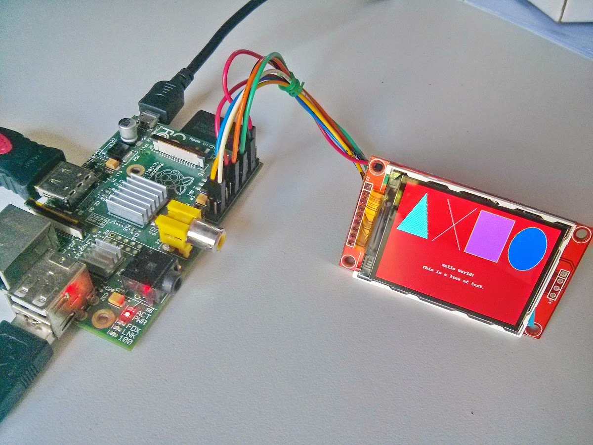 Raspberry Pi Projects Connect Tft Lcd With Python Library 2 Wiringpi I2c From Adafruit