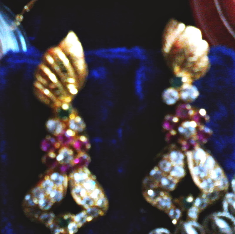 Gemstone diamond earrings title=