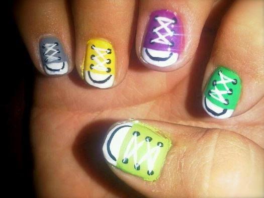 Converse nail art Designs