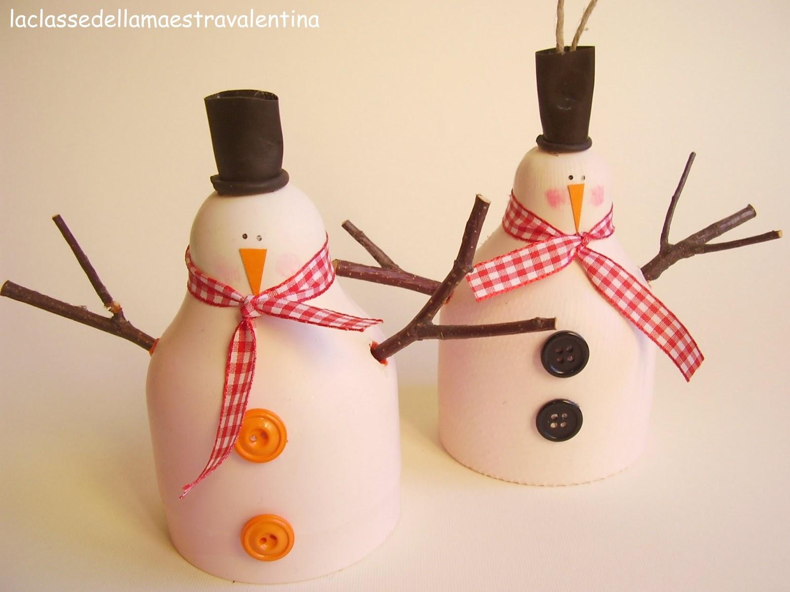 La classe della maestra valentina pupazzo di neve mangiatoia for La maestra valentina