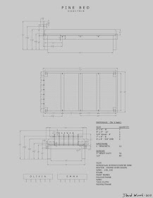 AutoCAD Bed Plans with Dimensions