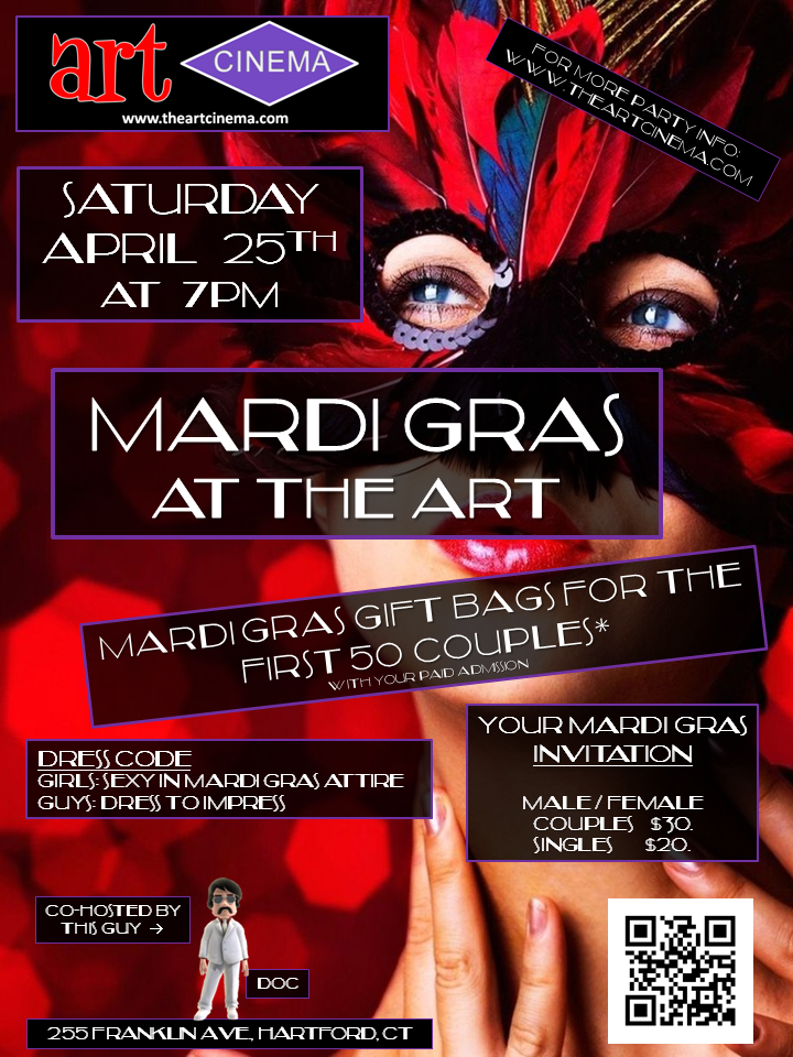 Next Art Cinema Party! Mardi Gras at The Art