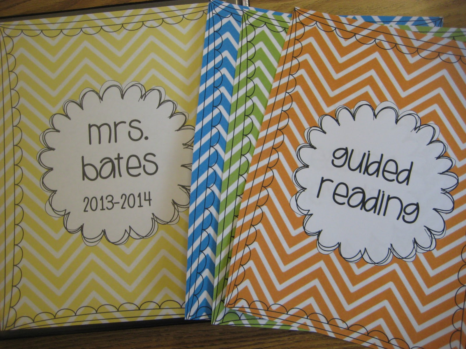Finally in First: Editable Chevron Binder and Calendar