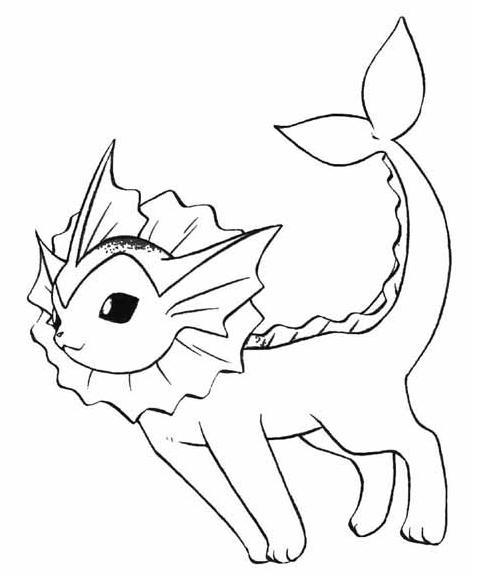 Sonhar e brincar vaporeon pokemon for Vaporeon pokemon coloring pages