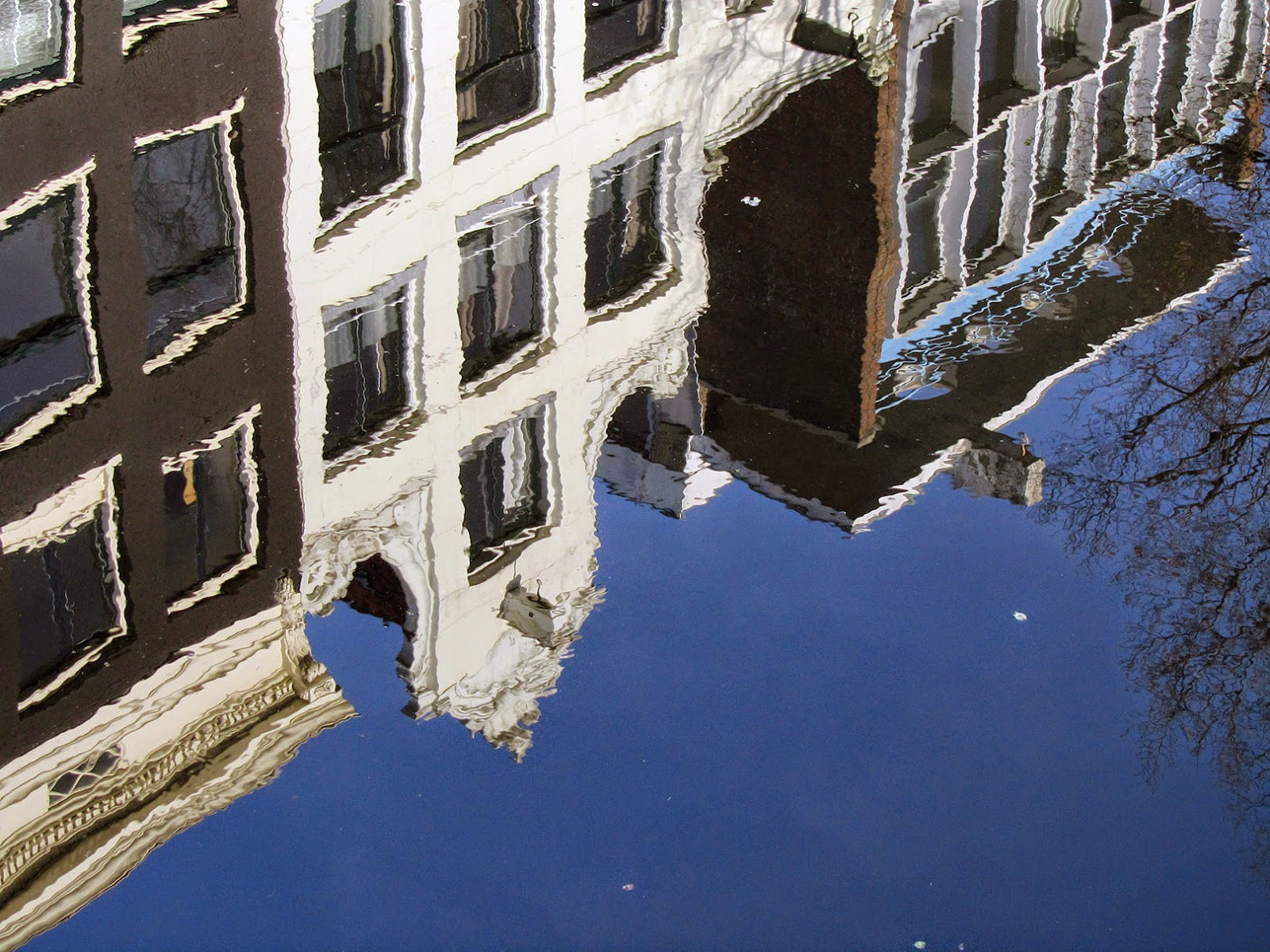 reflection of an Amsterdam canal