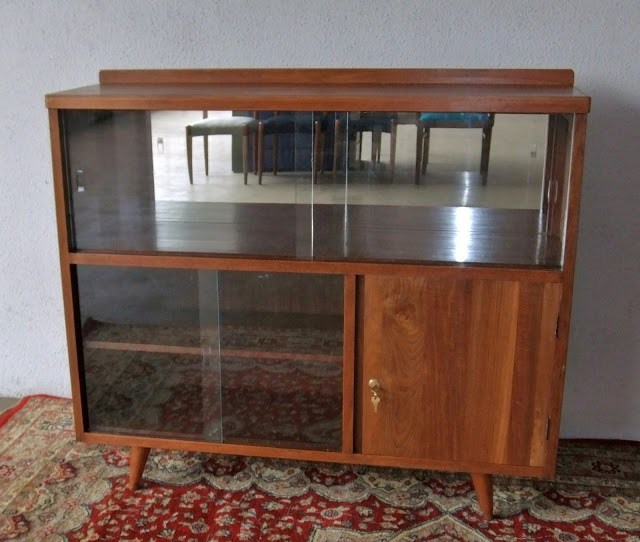 Ashley Furniture Cabinet With  Drawers Above  Glass Shelves