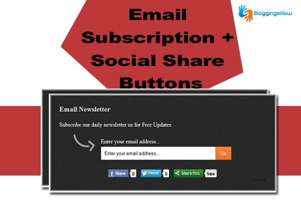 social share with email subscription below post