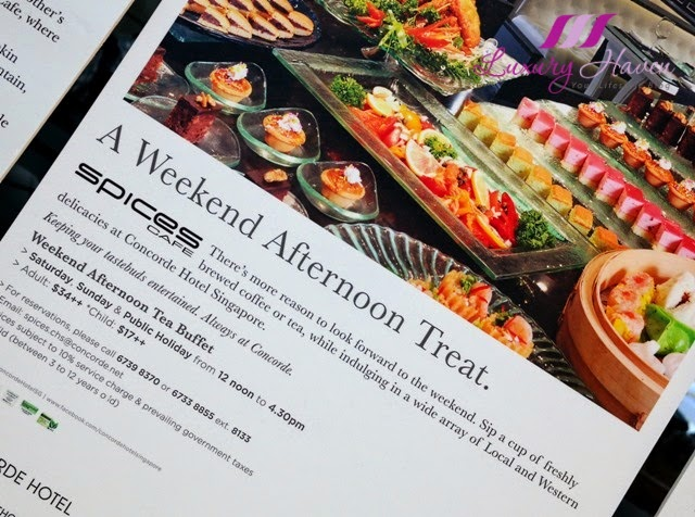concorde hotel spices cafe weekend afternoon tea buffet