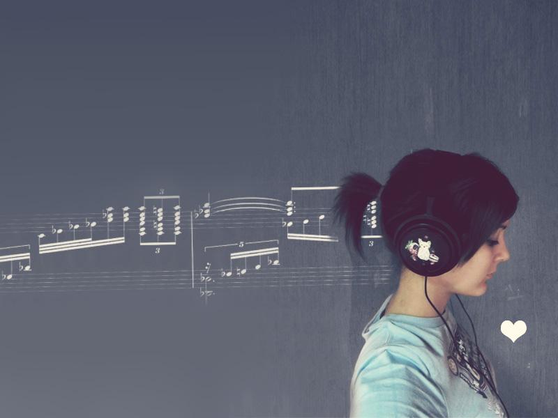 wallpaper love music
