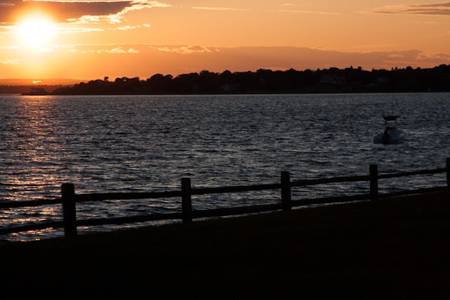 Narragansett Bay at sunset