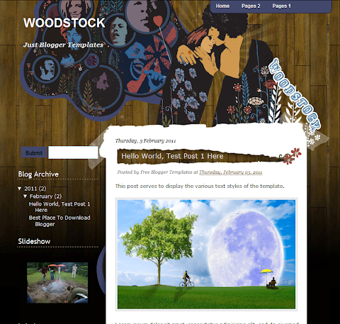 WoodStock Blogger Theme