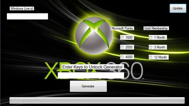 Xbox code generator