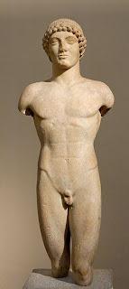 Apolo Strangford. Escultura Griega. Escultura griega en Periodo Arcaico. Grecia. La Sabiduria de Grecia