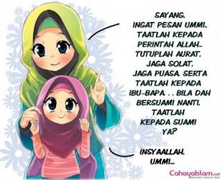 Gambar Kartun Muslimah Berkerudung Cantik | Rumput Liar