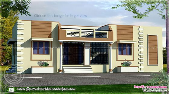 Tamilnadu style single floor home for Tamilnadu style single floor home design