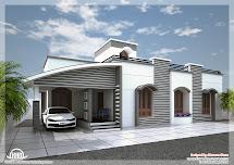 Kerala Single Floor House Designs
