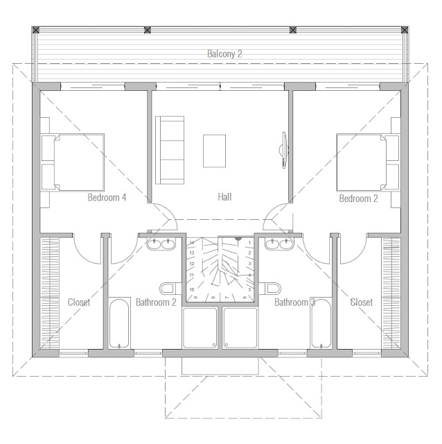contemporary house plans small modern house ch175