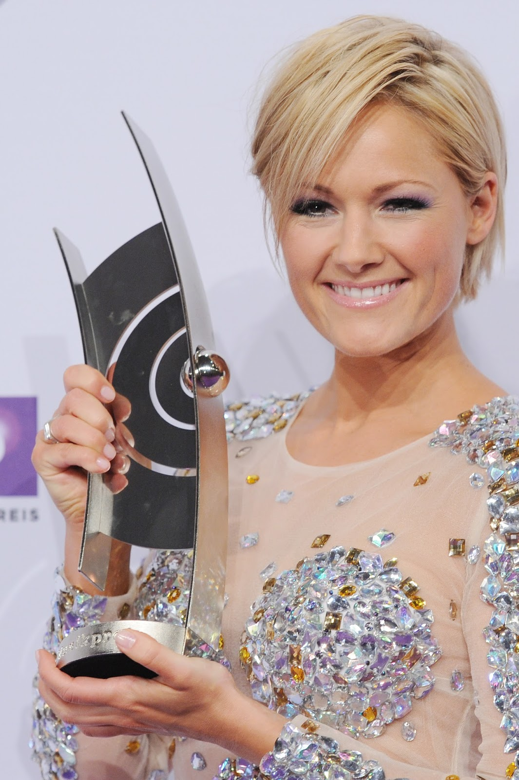 German singer and entertainer helene fischer holds her echo music