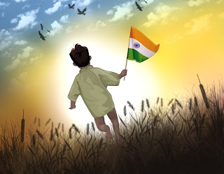 Indian boy flag