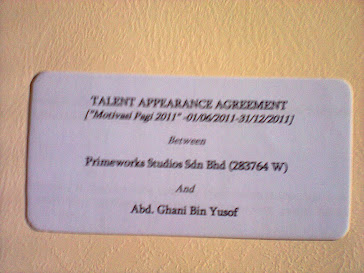 AGREEMENT ANTARA SYEIKH GHANI & TV 3