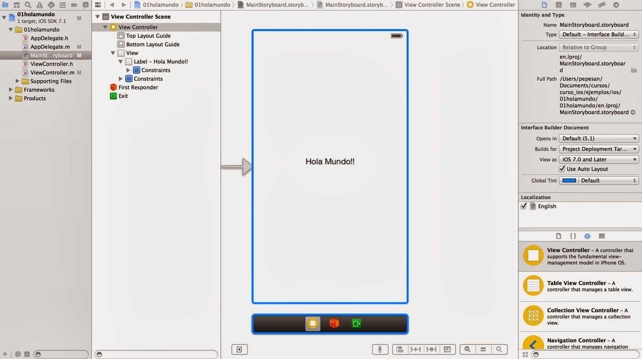 Curso de iOS7: El Storyboard   Desarrollo móvil y otras hierbas