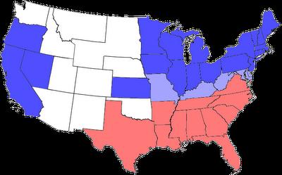 Divisão dos estados da União e da Confederação nos Estados Unidos durante a Guerra Civil