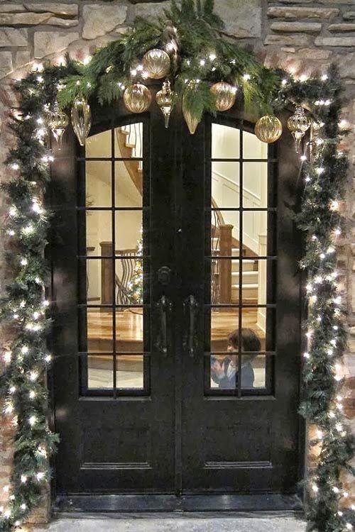 Elegant Exterior Christmas Decorations Photograph Outdoor