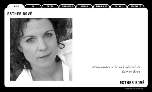 página web oficial de la actriz Esther Bové