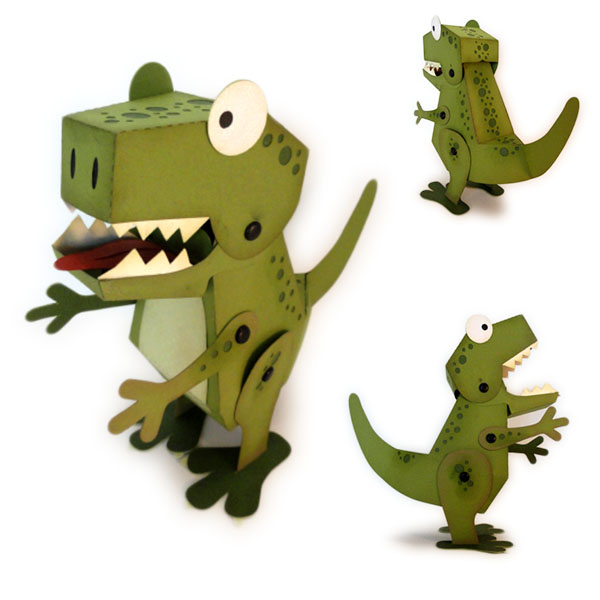T Rex 3d Figure Construction Guide