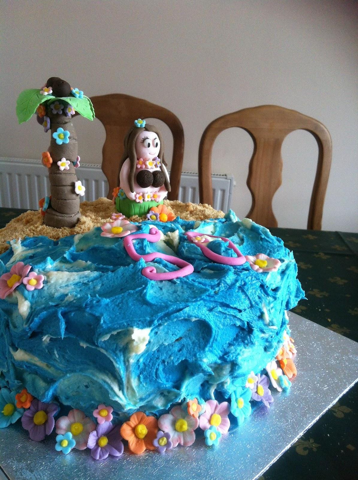 Victory Rolls Mixing Bowls 50th Birthday Hawaii Cake