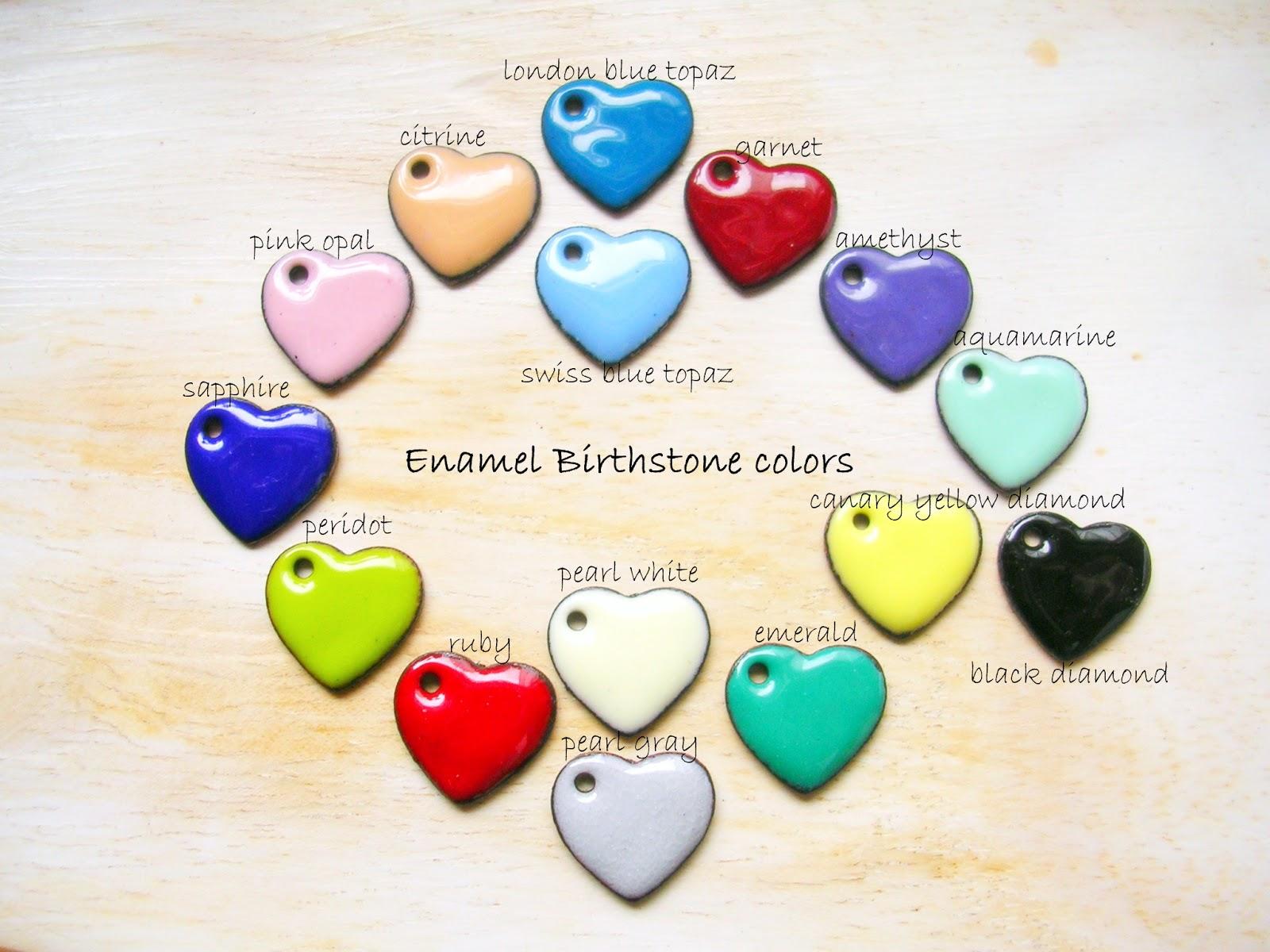 jewelry by natsuko enamel birthstone colors