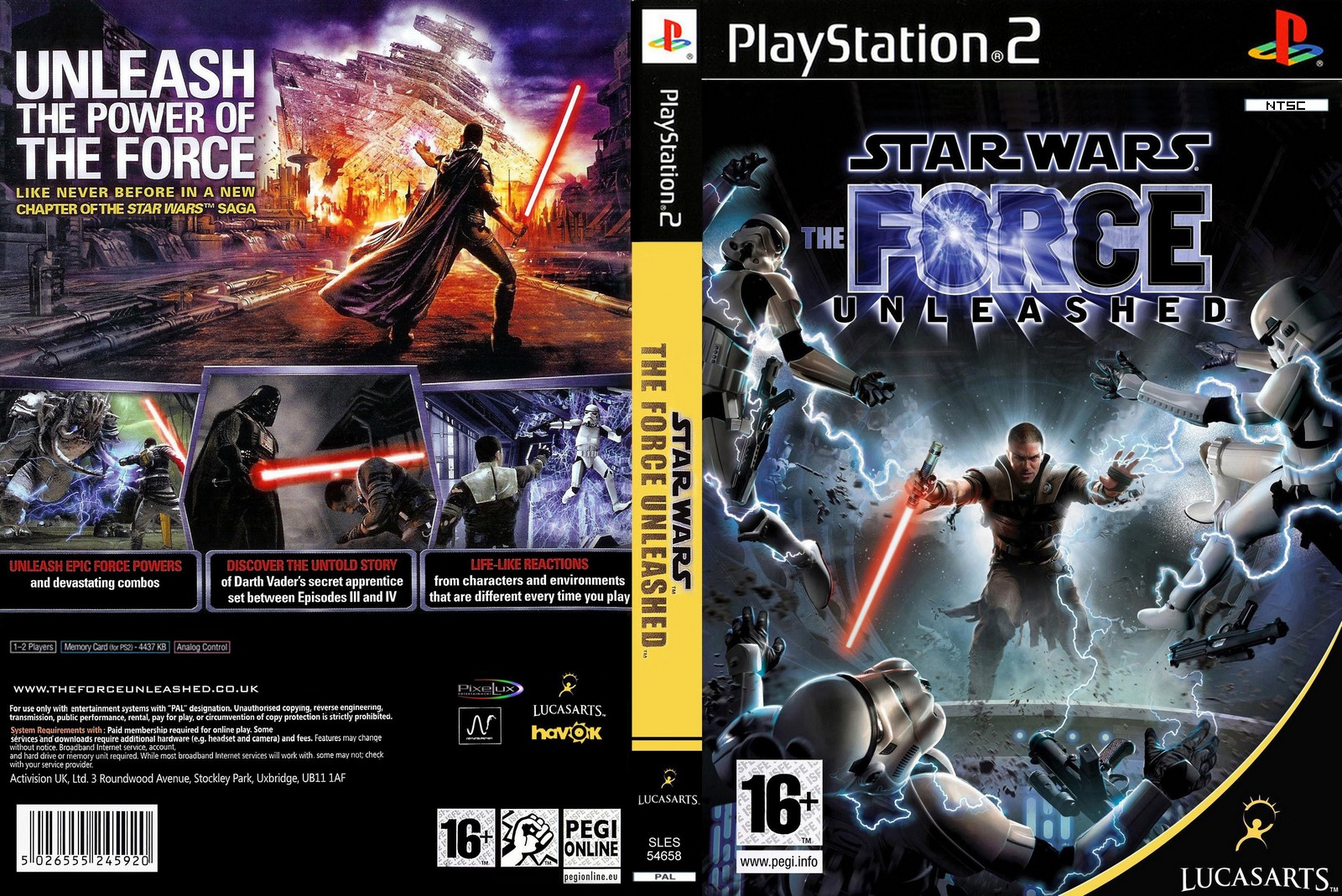 star wars the force unleashed ps2 iso ntsc