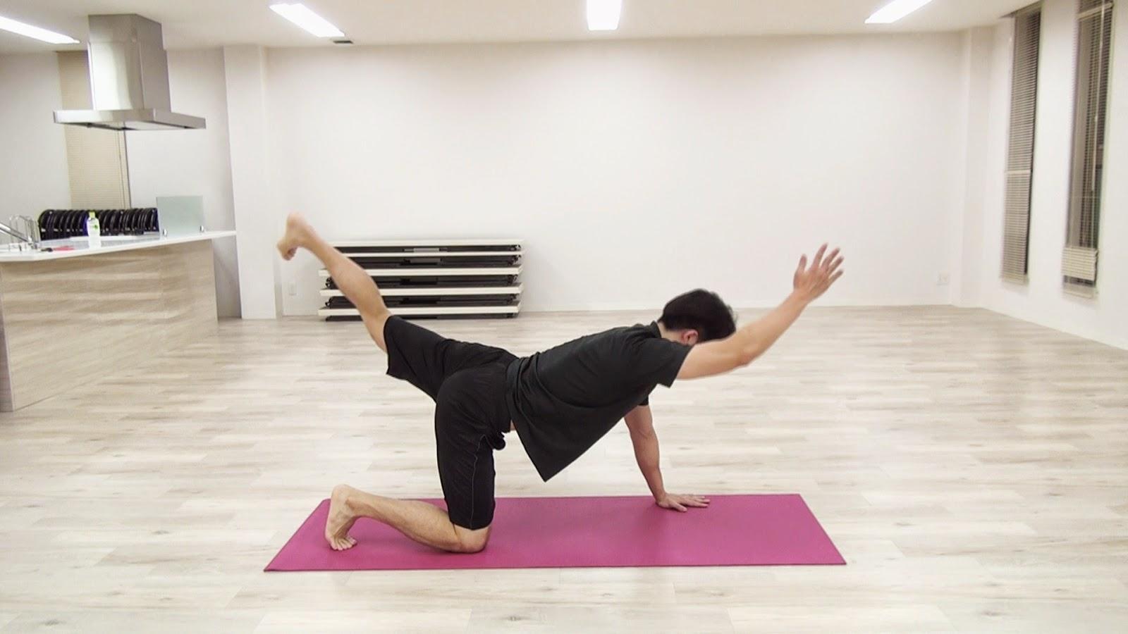 背中とお尻のトレーニング