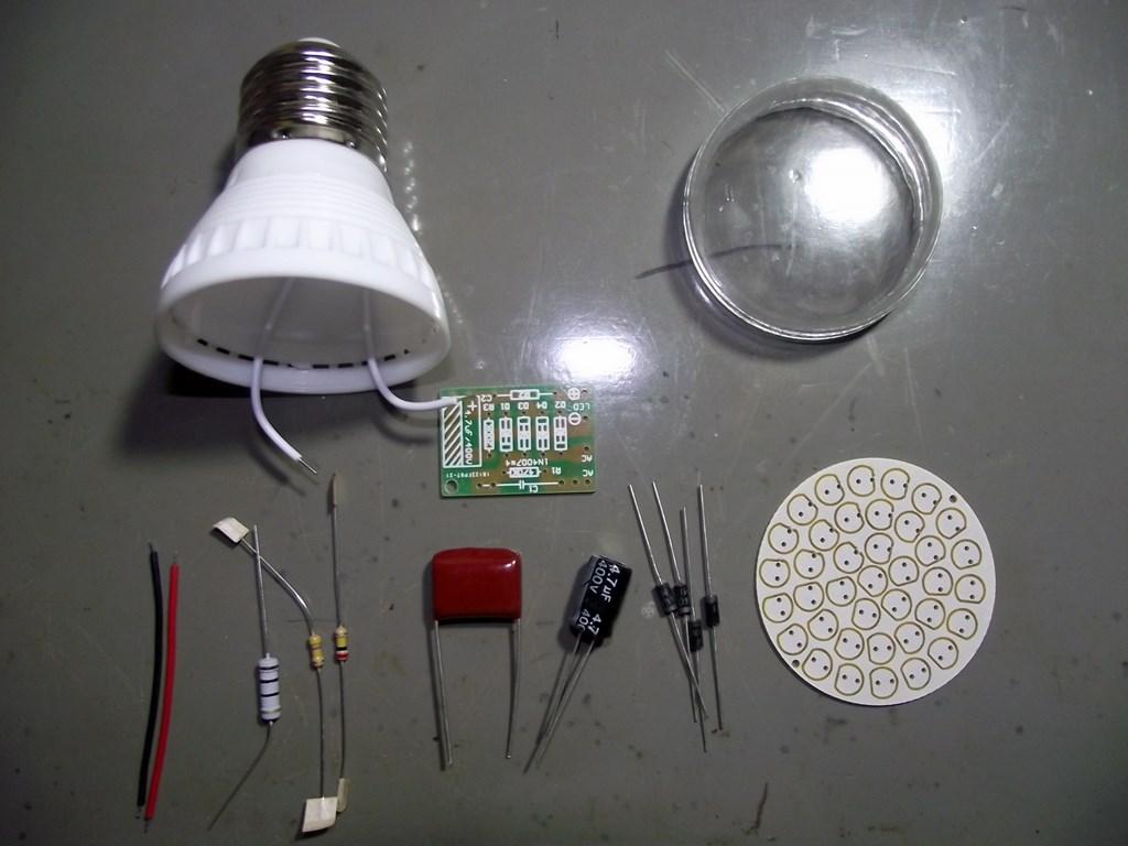Montando uma l mpada de led em kit pak quis for Lampada led