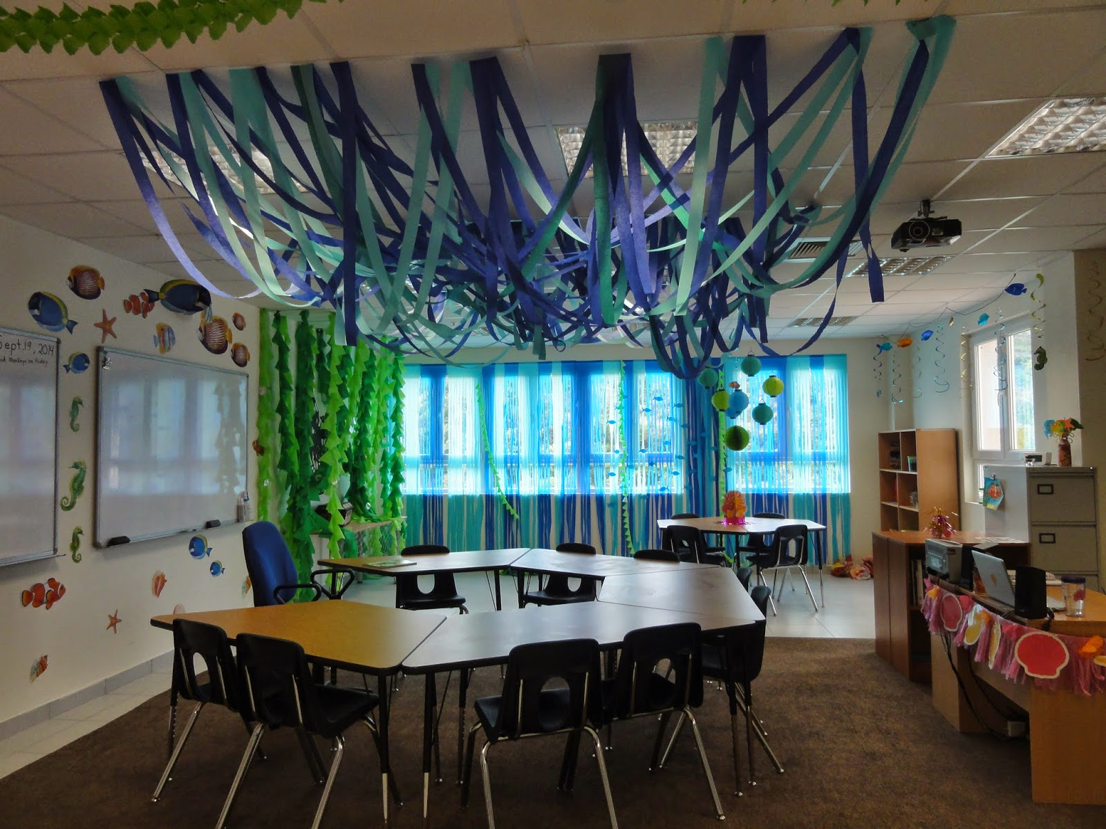 Ideas In Classroom ~ The charming classroom ocean theme
