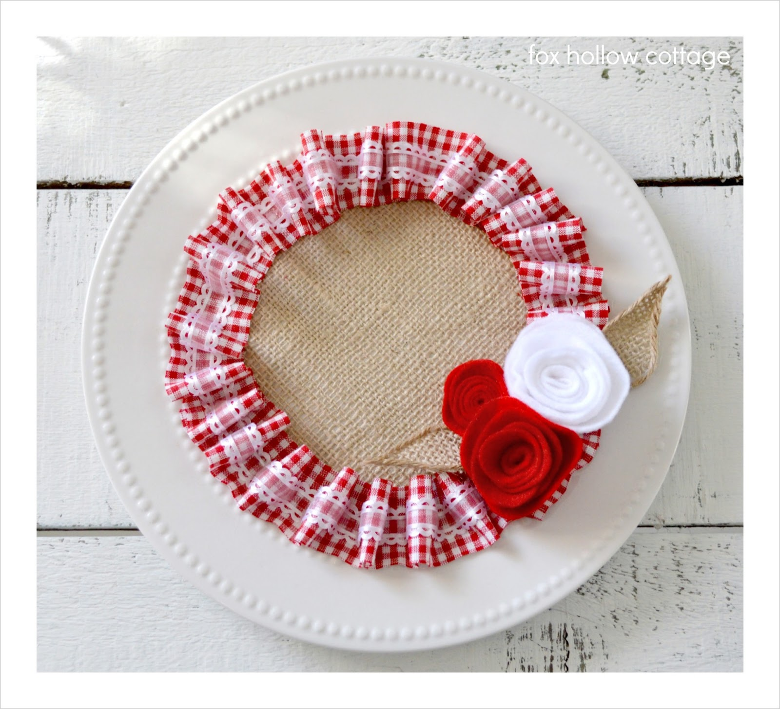 A Valentine's Craft {in burlap and ruffles} - Fox Hollow Cottage