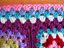 How to make a flat border for a granny square blanket