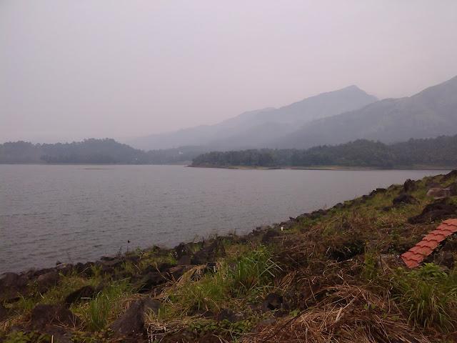 Mountains views from Banasura Sagar Dam