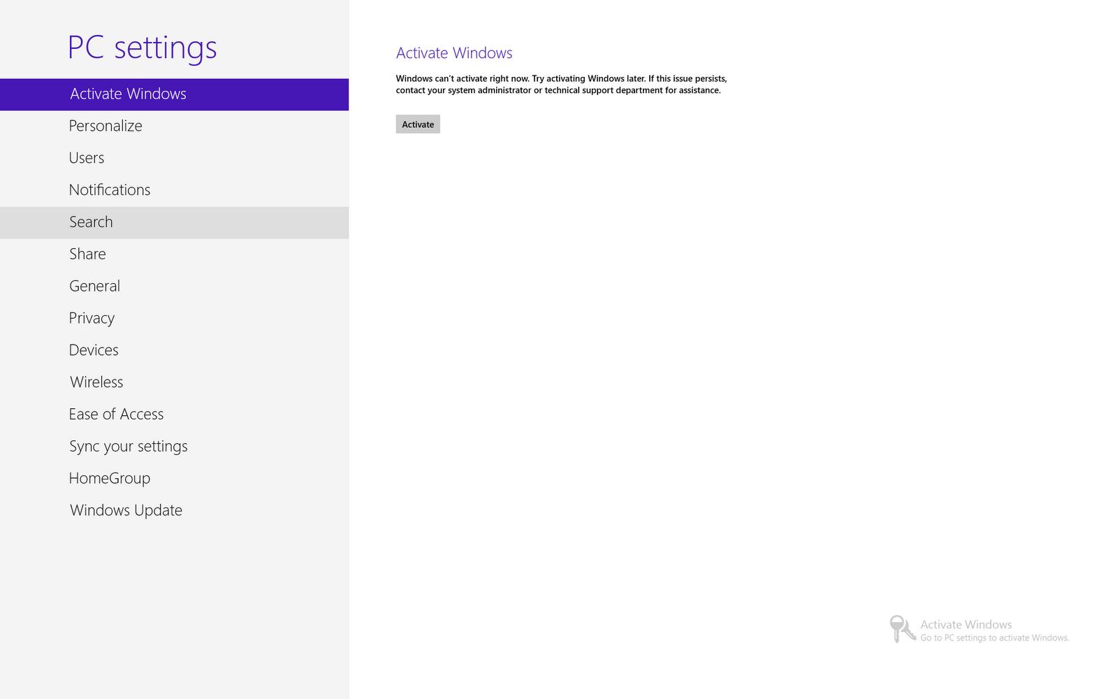 Solved Windows 81 Activation Error: 0xC004C003