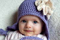 Pattern: Ruffled Rose Earflap Hat