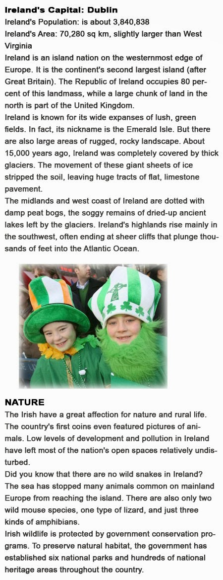 Facts about Ireland for kids