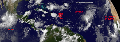 Das Wort zum Freitag, 23. September 2011 - Ohne Worte, Atlantik, Pazifik, Das Wort zum, Hilary, Ophelia, Satellitenbild Satellitenbilder, Taifun Typhoon, September, 2011, Hurrikansaison 2011,