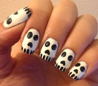 2013 Halloween Nail Art Challenge Skulls