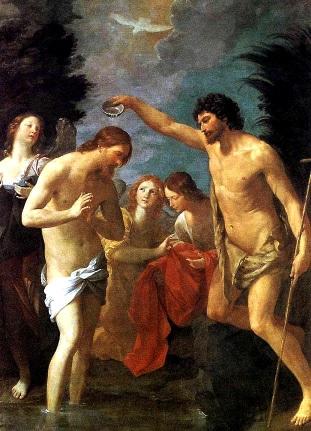 Pintura del Bautismo de Jesús en el Río Jordán