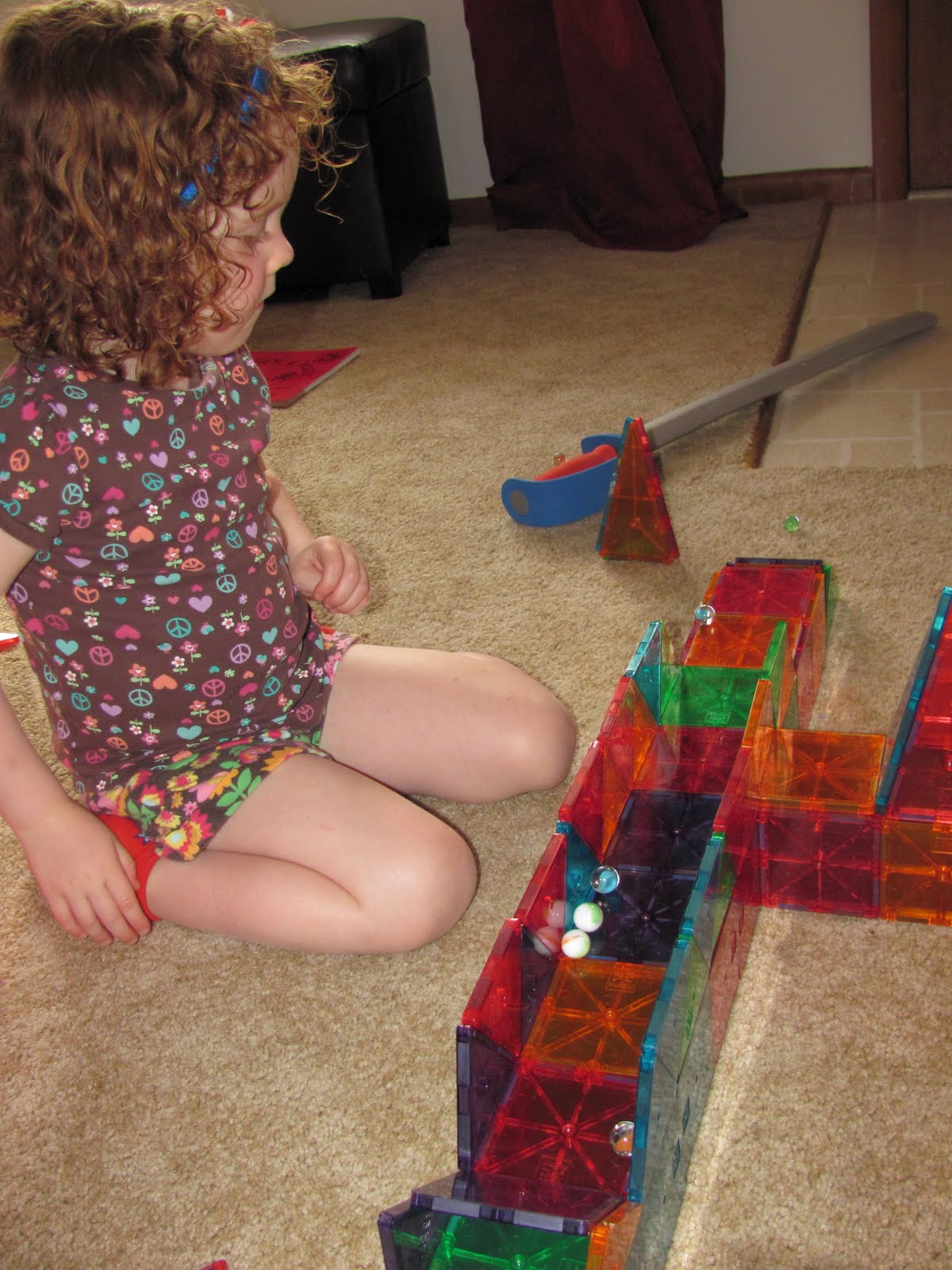 The Chocolate Muffin Tree: Marbles and Magna Tile Building Toys