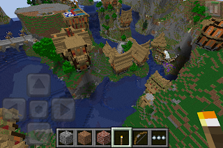 Minecraft PE Worlds: Waterfall Village