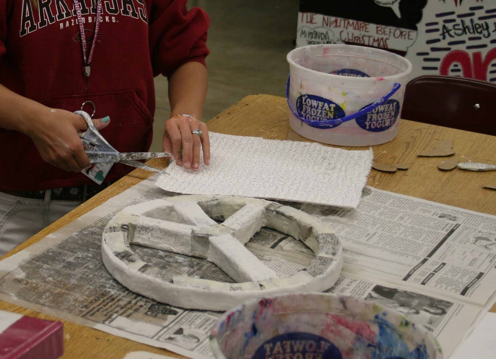 Mrs. Macre's Art Class: Plaster Sculptures...Update from the Art Room