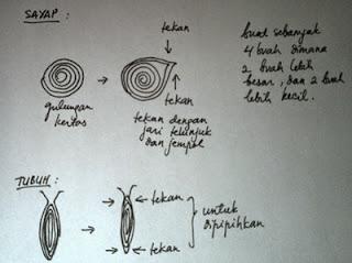 cara membuat kupu-kupu kertas