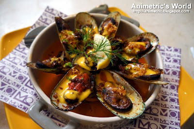 Roasted Beerhouse Blue Mussels at MoMo Cafe Ayala Triangle Gardens